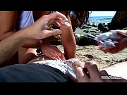 MyFirstPublic Two hot dirty pierced  girls shave guy on beach &amp_ get punished