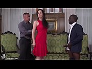 hot euro girl enjoys interracial double.