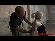 gagged blonde bdsm sub toyed by.