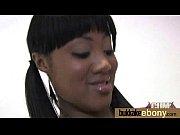 Hot ebony chick in interracial gangbang 7