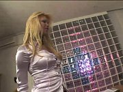 blonde transex tryng an actor