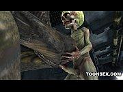 sexy 3d cartoon alien babe fucked hard by.