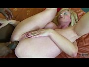 Old blonde woman fucks and anal with a bbc