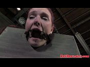 Sensory deprived sub being punished