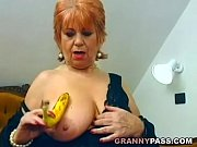 chubby mature stuffed a banana inside.