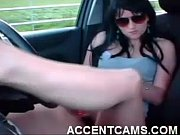 masturbating in her car