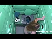 milf sucks dick at abondon building porta potty gloryhole
