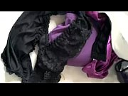 try to cum some wife&#039_s purple bra panty.
