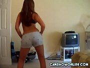 sweet girl dancing in her thong.