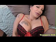 Mature shemale jerks off unitl she creams