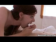 Redhead shemale rimmed after blowing dick