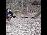teen pees on her swing