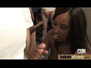 hot ebony chick love gangbang interracial.