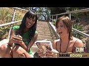 Ebony gets group cumshots 6 Thumbnail