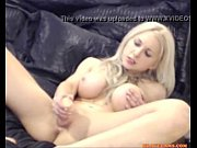blonde with big tits and pale skin masturbates.