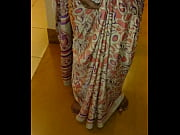 wear and cum in satin silk saree of.