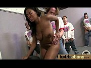 Ebony Cum Slut Hottie Bukkake Party 27