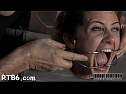 Charming babe&#039_s sweet nipps receives painful torturing