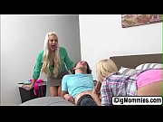 Busty stepmom Holly Heart fucks hot teens in threesome