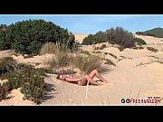 Zuzana Z. Hot blonde doing sand angels