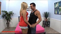 big bubble butt blond does her first porn scene with big white cock