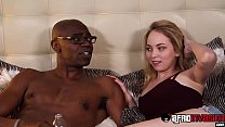 Bitchy cutie interracially drilled while stepda...