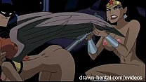Justice League Hentai - Two chicks for Batman dick Thumbnail