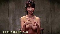 Brunette Asian nurse in hogtied Thumbnail