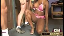 Ebony gets group cumshots 15