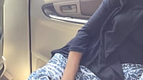 my wife pussy fingering in the moving car