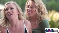 Blonde wife cheats with the hot poolgirl and fa...