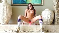 Kaley Kade Rides a Suctioned Dildo Thumbnail