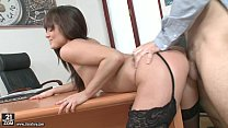 Lydia Lust gets assfucked in stockings