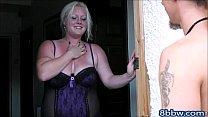 Blonde BBW Sucks and Rides Man Meat - 8bbw.com Thumbnail