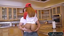 Pizza delivery girl gets her twat banged by per...