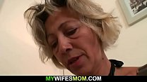 Hot mom-in-law sucks and rides his dick Thumbnail