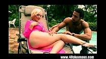 lonely blonde milf enjoys this big stud Thumbnail