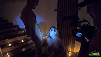 Mirella Mansur caught behind the scenes with th...