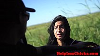 Download video bokep Hitching teen throatfucked by maledom 3gp terbaru