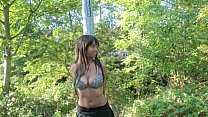 Ebony Babe Candy Nude in Public Thumbnail