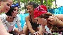 Amateur teens face jizzed