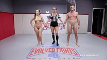 Carmen Valentina nude wresting fight with Lance...