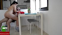 He gets horny while she's studying, and they fu...