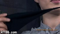 Tied up chick is punished by dominant for her n...
