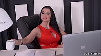 Busty Secretary Aletta Ocean gets Titty Fucked ... Thumbnail