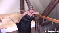 Horny old cunt is so happy to be fucked by a bi...