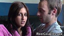 Real couple Zarina and Jay chat before having sex Thumbnail