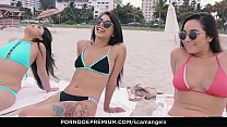 SCAM ANGELS - American Gina Valentina and Karlee Grey wild fucking in Miami