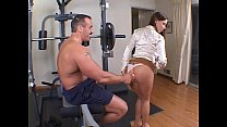Hot brunette with a nice rack banged up the ass in the gym Thumbnail