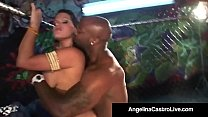 BBW Angelina Castro Sucks Nat Turnher's BBC In ...